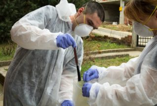 Collecting evidence from crime scene
